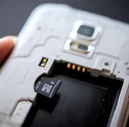 Micro SD Karte 64GB / 32GB / 16GB / 8GB