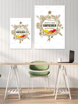 Poster-Set, Motiv Kaufbeuren, in zwei Größen