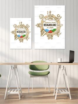 Poster-Set, Motiv Neugablonz, in zwei Größen