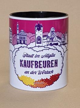 NEU: Tasse mit Motiv Kaufbeuren, violett