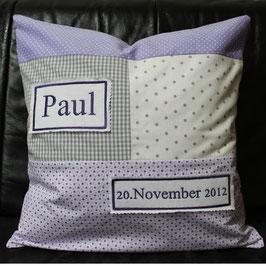 """Patchwork Kissen""""Paul"""""""