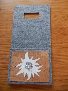 Filz - Ladetasche grau Edelweiss 1