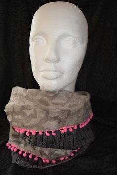 Edelweissloop grau mit pink