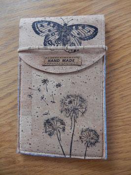 Kork - Filz Handyhülle medium Stempel Schmetterling