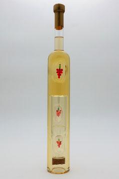 """Weinflasche langgestreckt mit Qualitätswein """"Furmint"""" und innenliegenden Trinkgläsern"""