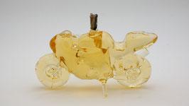 """Rennmotorrad aus Glas mit Qualitätswein """"Furmint"""""""