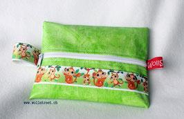 "Feuchttücher-Tasche ""Äffchen"" grün"