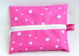 """Feuchttücher-Tasche """"Stars"""" rosa"""