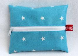 """Feuchttücher-Tasche """"Stars"""" hellblau"""