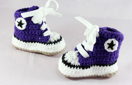 Baby Chucks DARK PURPLE