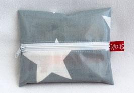 "Feuchttücher-Tasche ""Big Stars"" grau"