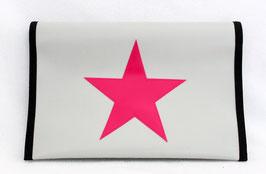 Windelbag ★ silbergrau ★ pink Star