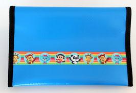Gesundheitsheft-Hülle ★ blau ★ Rainbow-Tiere