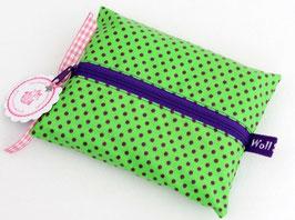"""Feuchttücher-Tasche """"Tüpfli"""" grün"""