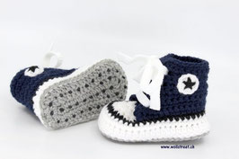 Baby Chucks NAVY mit Antirutsch