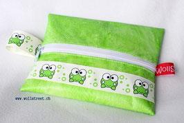 """Feuchttücher-Tasche """"Frosch"""" grün"""