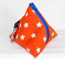 Nuggi-Täschli Stars orange