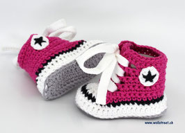 Baby Chucks Summer dunkelpink