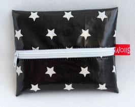 """Feuchttücher-Tasche """"Stars"""" anthrazit"""
