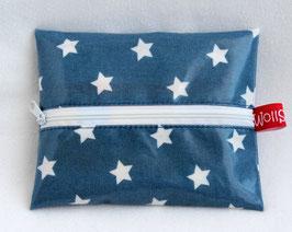 """Feuchttücher-Tasche """"Stars"""" denimblau"""