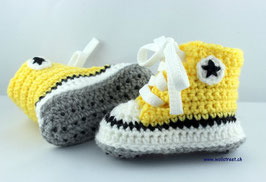 Baby Chucks YELLOW mit Antirutsch