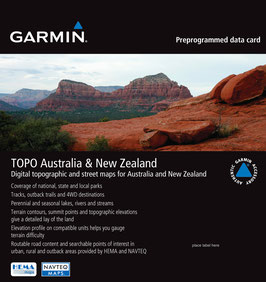 TOPO AUSTRALIEN UND NEUSEELAND microSD-Speicherkarte