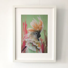"Print and frame 30 x 40 cm from  original painting serie ""Burung Cacatua II""."