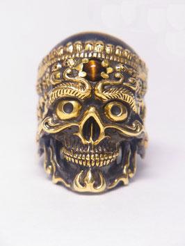 Tibetan Skull Ring/チベタンスカルリング(真鍮/スカルカップバージョン)