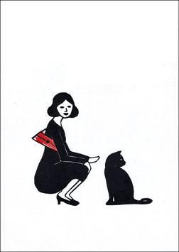 Change – Frau mit Katze