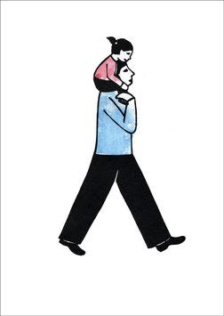 Change – Mann mit Kind auf den Schultern