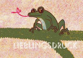 Frosch auf Zweig