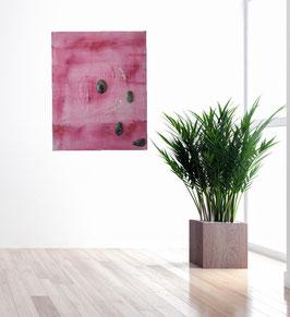 Gemälde mit Rubin - Zoisit und Weißgold