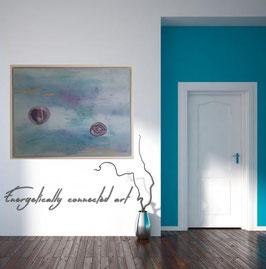 Gemälde mit Achat im Rahmen!