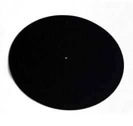 Wool black Turntable Mat
