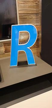 Buchstabe R Plexiglas Metallrahmen unbeleuchtet
