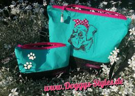 Handtasche mit Boxermädel
