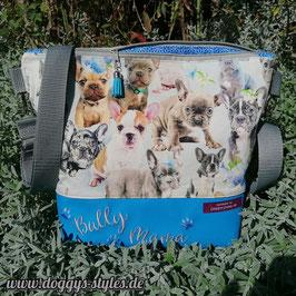 """Handtasche """"Bullybabies"""" mit Blau und Grau"""