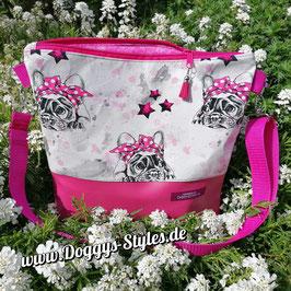 """Handtasche """"Bully pinke Sterne"""""""