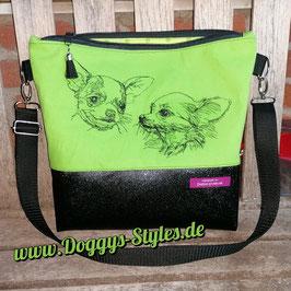 Handtasche mit Chihuahuas