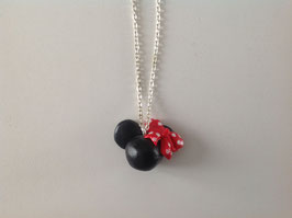 Collier fille (ref. boule rouge)