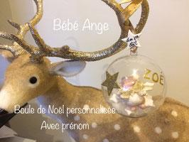 Boule de Noël personnalisée, avec prénom... Bébé Ange