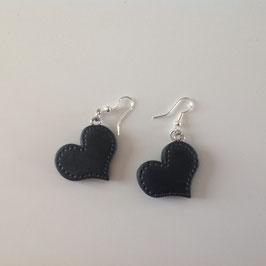 Boucles d'oreilles Coeurs Noirs