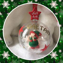 Boule de Noel, bébé lutin