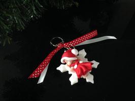 Porte clé Bébé Noël fille