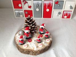 Centre de table personnalisé... Décoration de Noel : famille de pingouins