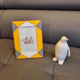 Cadre Tendance géométrique... jaune, gris et blanc