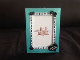 "Cadre photo turquoise ""Papa je t'aime"""