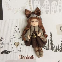 Poupée du Monde... Elisabeth... collier pendentif