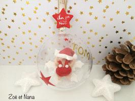 Boule de Noël personnalisée, avec prénom... Bébé garçon