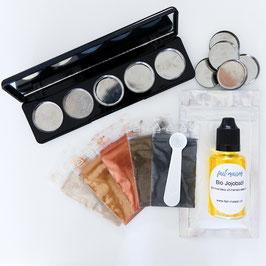 Set für gepressten Mineral-Lidschatten